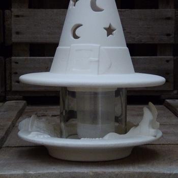 hoed halloween en bord
