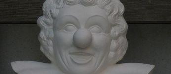 clown buste groot