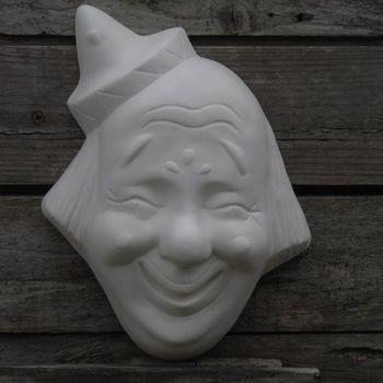 clown gezicht muur