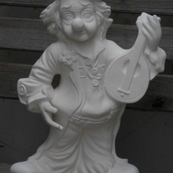 clown groot met banjo