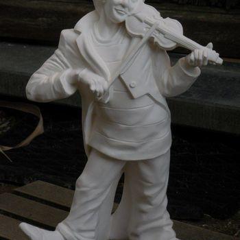 clown groot met viool