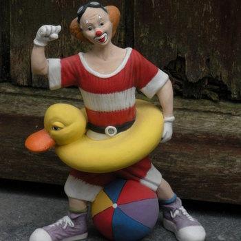 clown met zwemband