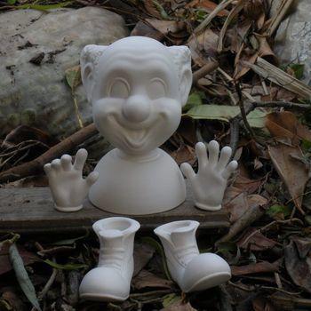 hoofd clown met handen/voeten