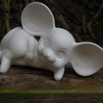 muis grote oren klein liggend