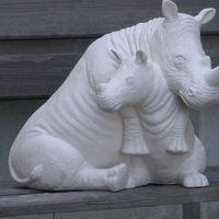 neushoorn met jong