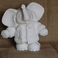 olifant knitwit met jasje