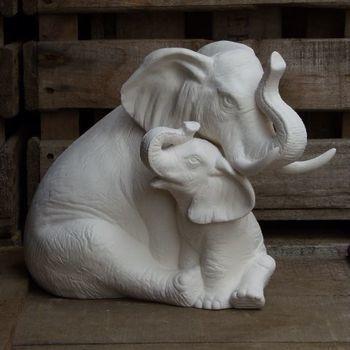 olifant met jong