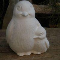 pinguin met jong 13 cm