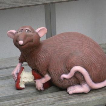 rat met appel
