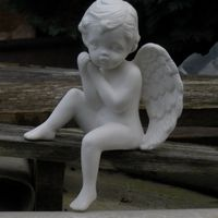 engel afhangend 1 been omhoog