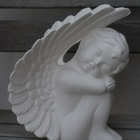 engel groot slapend vleugels boven R