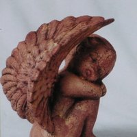 engel slapend vleugels boven R