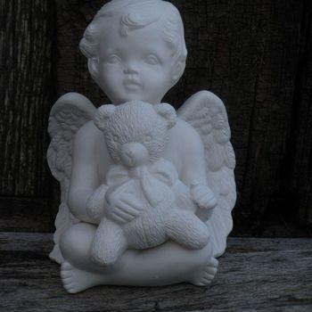 engel zit teddybeer
