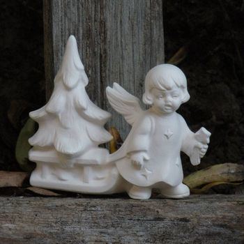 engeltje met slee/kerstboom