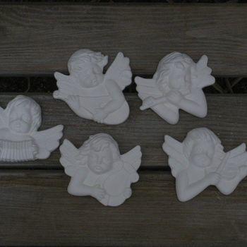 engeltjes hoofd hangend muziekinstrument I (5)