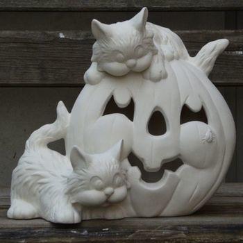 pompoen met katten