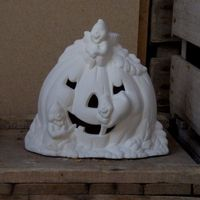pompoen met spookjes