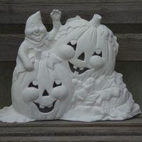pompoenen met spook