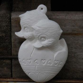 hanger eendjes in ei