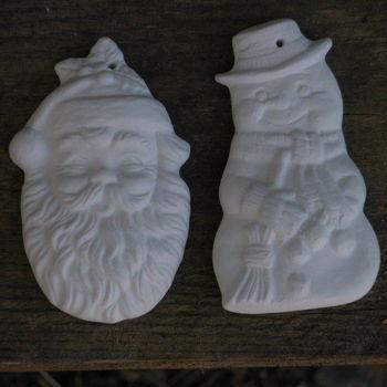 hanger kerstman/sneeuwman