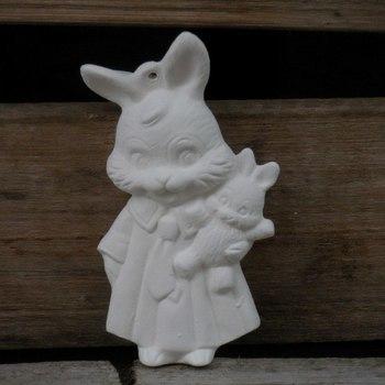 hanger konijntje met baby