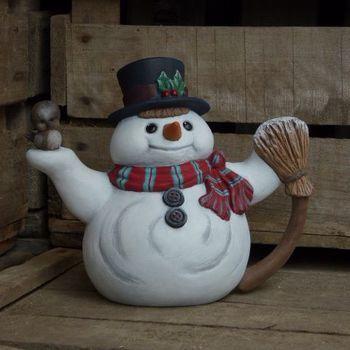 sneeuwman pot