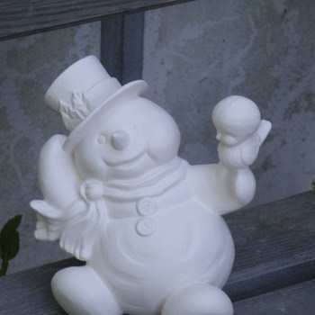 sneeuwman zit