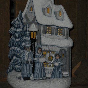 tafereel kersthuis/zangers