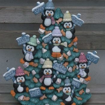 pinguin kerstboom