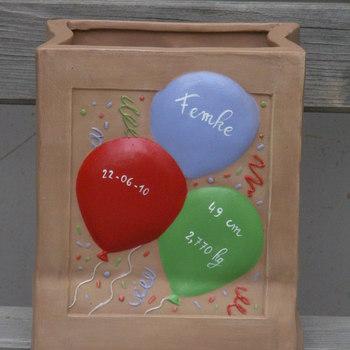 doos met ballonnen