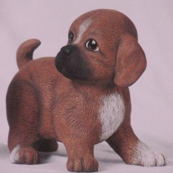 hond puppie groot staand