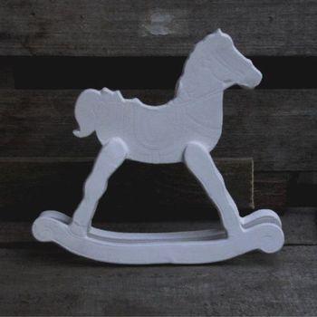 paard schommel hout