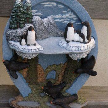 tafereel water pinguins
