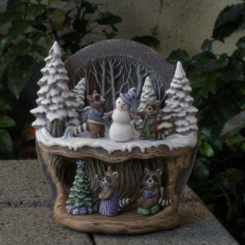 tafereel winter wasbeertjes