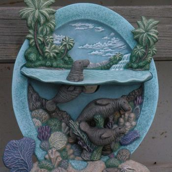 tafereel water zeekoeien