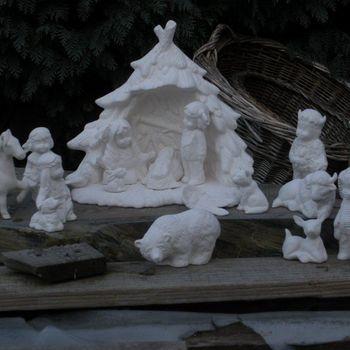 kerstgroep indianen klein