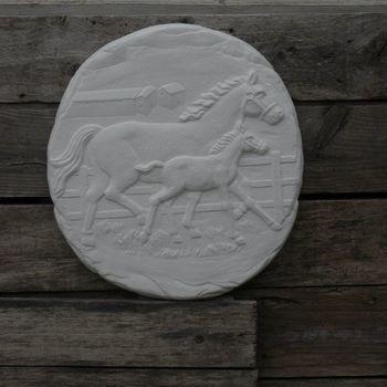 tegel paard rennend