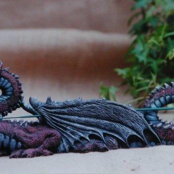 wierookhouder draak lig vleugels