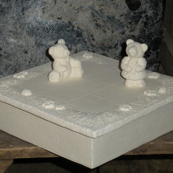 schaakbord beertjes klein