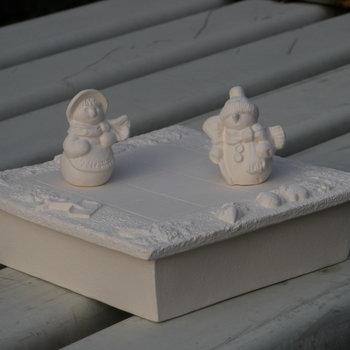 schaakbord sneeuwmannetjes klein