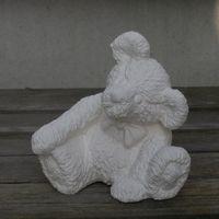 beer fluffy klein met strik