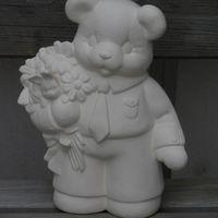 beer met bloemen jongen