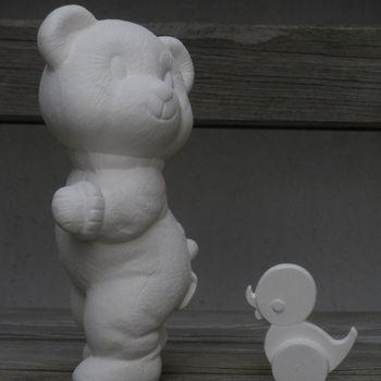 beer pyama staand eendje